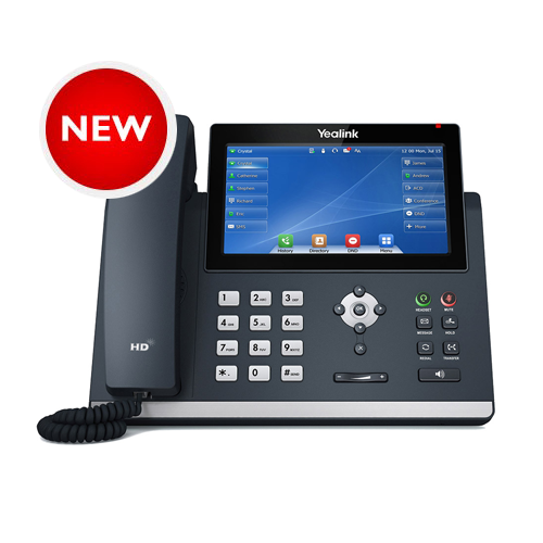 Yealink Gigabit IP Phone with Touch LCD and Dual USB Ports