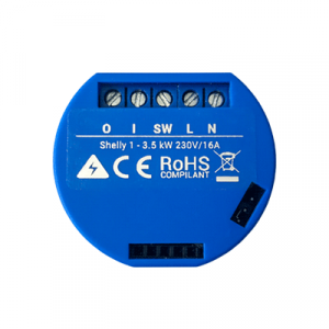 Shelly 1 | Shelly Smart Wi-Fi Relay (Single Channel) - Top