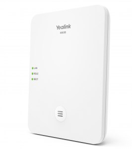 W80B | Yealink Multi-Cell DECT Base Station - Left