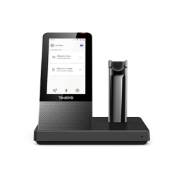Yealink DECT Wireless Convertible Headset with Touch Screen Base Station